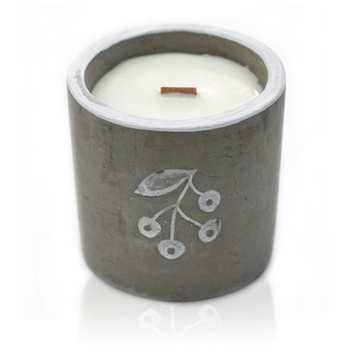 Concrete Soy Wax Candle - BERRYS Juniper & Sweet Gin