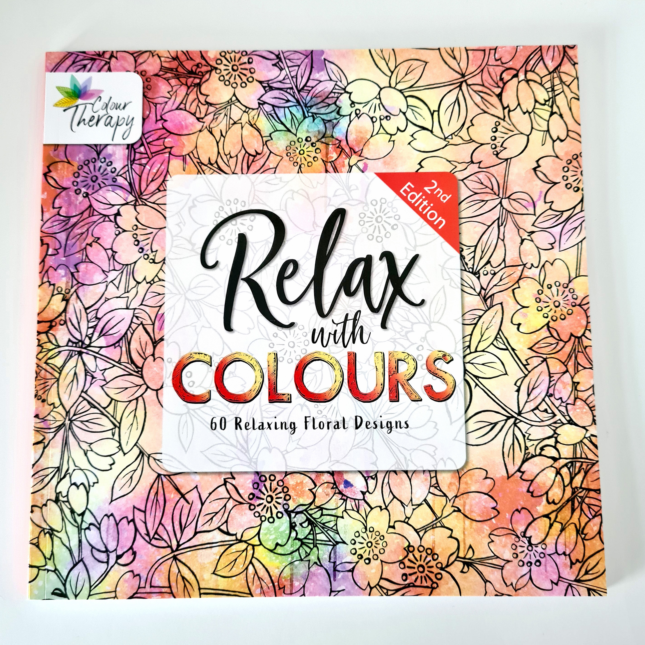 Floral Edition colouring book for adults